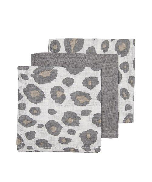 Meyco | Monddoekjes panter uni grijs (3 pack)