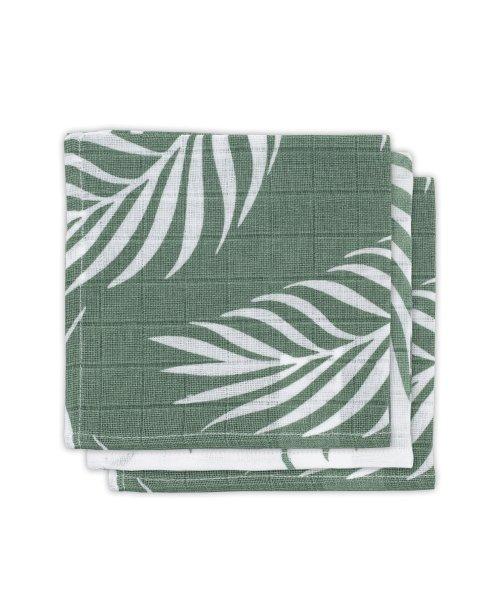 Deze vrolijke monddoekjes uit met botanische print zijn een feestje om te gebruiken. 100% katoen. ✅Kraamkado idee!