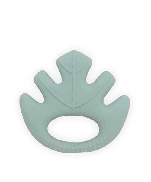 Jollein - Bijtring Leaves - ash green - 100% natuurlijk rubber