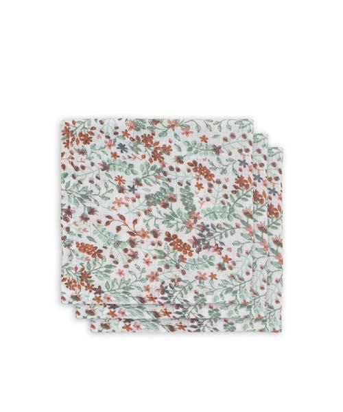 Jollein - Monddoekje hydrofiel - Bloom - 3pack