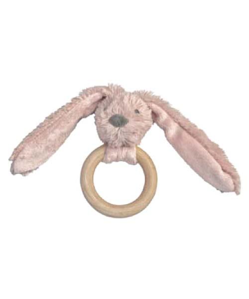 Houten bijtring Old Pink Rabbit Richie